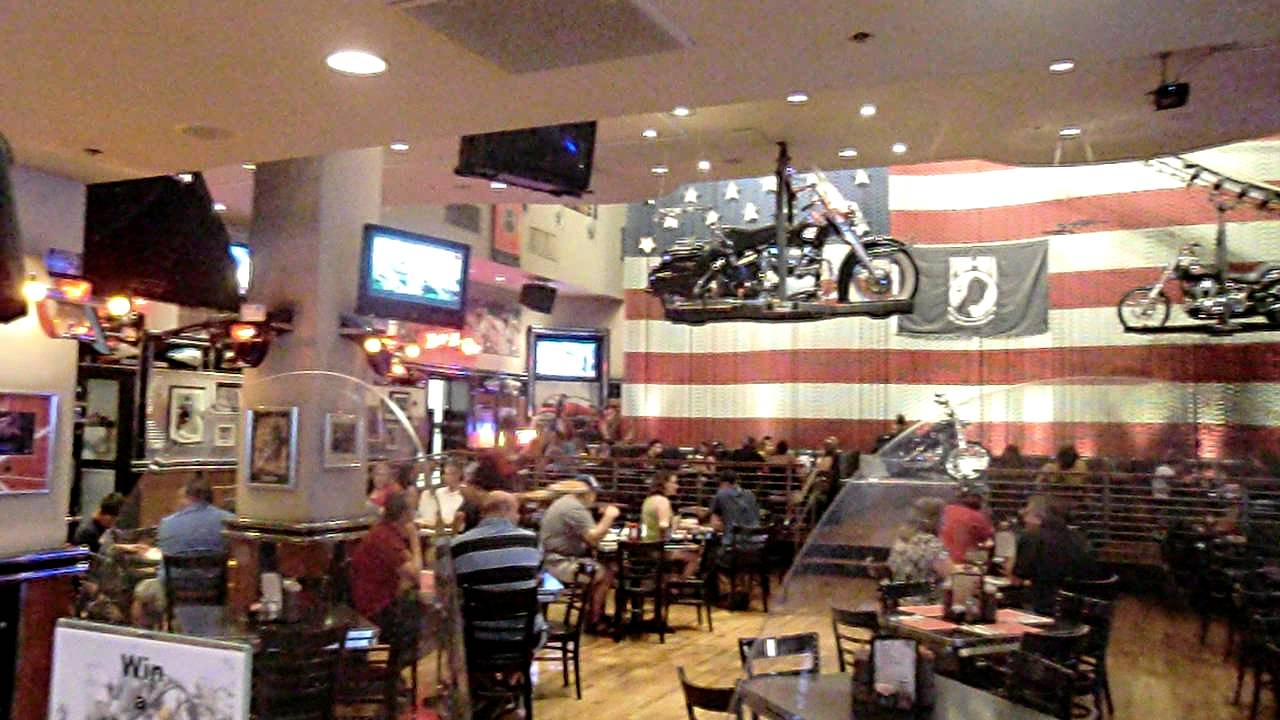 inside harley-davidson cafe - las vegas strip 2011 - youtube
