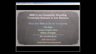 BBB in Community: Extending Community Outreach in Your Business