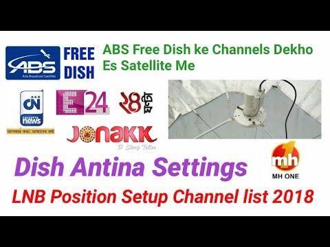 ABS Free Dish Ki Channels Dekho es Satellite me  Dish Antina Settings LNB Position Setup 2018