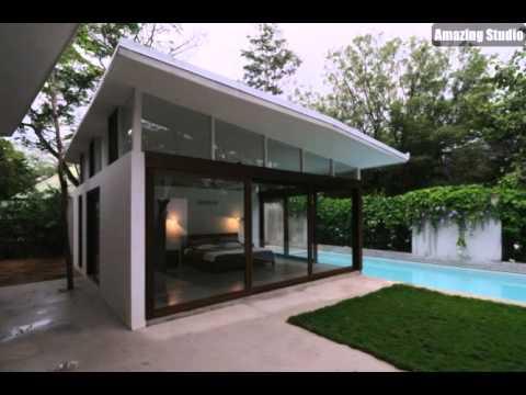 Poolhaus Schlafzimmer Deckenhohe Fenster - YouTube