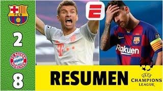 Barcelona 2-8 Bayern Munich | RESUMEN UCL | PALIZA HISTÓRICA. RIDÍCULO del Barcelona en Champions