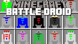 Minecraft STAR WARS DROID MOD / SPAWN LOADS OF STAR WARS DROID AND PLAY WITH THEM!! Minecraft