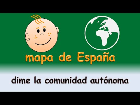 Mapa de España comunidades autonomas - Dime la comunidad autonoma