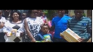 Murang'a County first lady joins local leadership in donation drive to local children's homes
