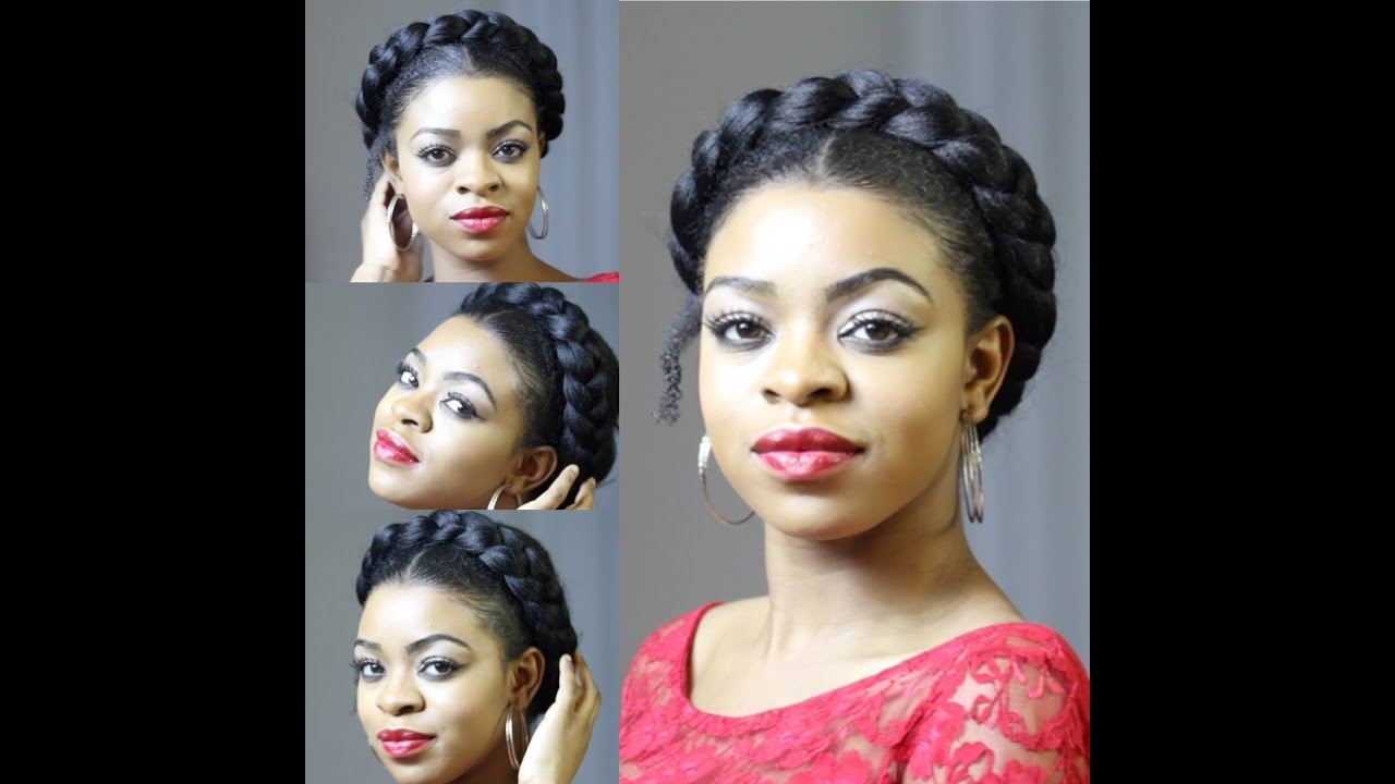 faux goddess braid natural hair