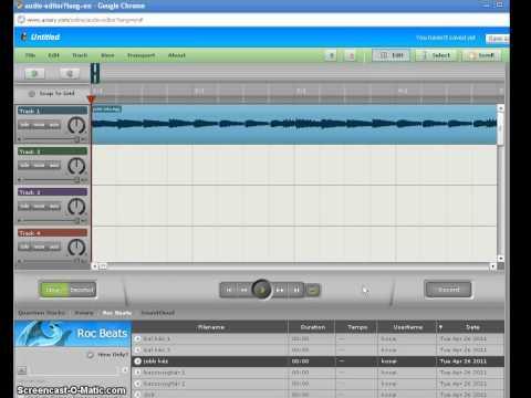 Az Aviary Music Creator és az Audio Editor összekapcsolása