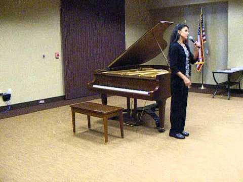 Annetta's Art Circle Public Library Solo Recital April 9 201