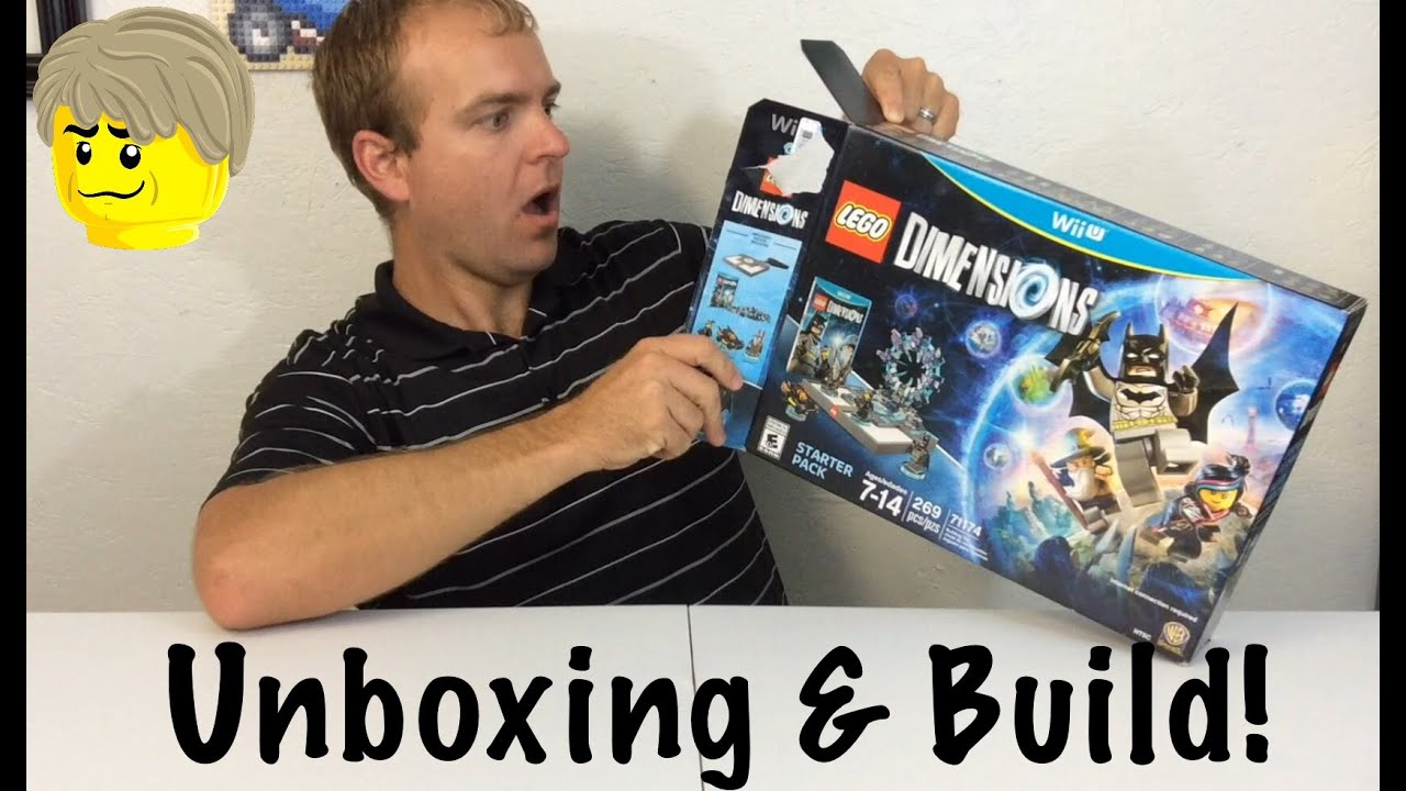 lego dimensions starter pack unboxing build wii u youtube. Black Bedroom Furniture Sets. Home Design Ideas