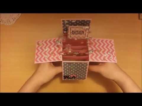 fabriquer carte anniversaire 3d LPPD Tuto: Carte d'anniversaire 3D 2   YouTube