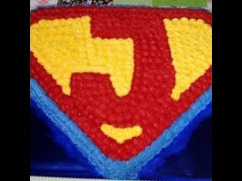 Como Confeito O Bolo Do Superman Com Bico 4b Da Wilton Youtube