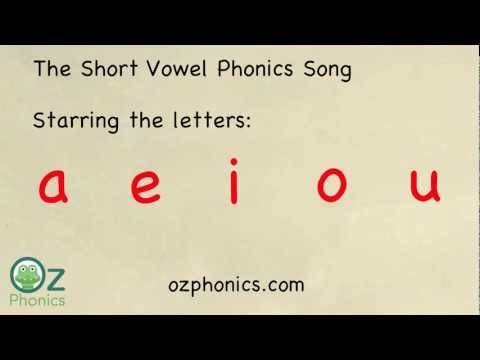 Phonics Song - aeiou short vowels (a Phonics song like no other)