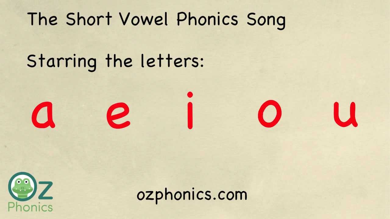 Phonics Song - aeiou short vowels (a Phonics song like no ...