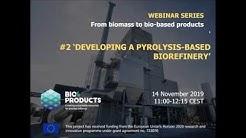Developing a pyrolysis based biorefinery (webinar)