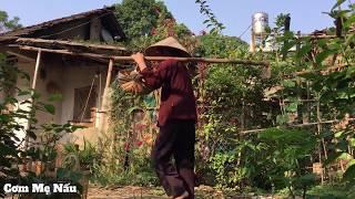 Mẹ thu hoạch củ từ ngoài vườn và làm món muối rang ấm nồng vi quê (Dioscoreaceae)  Cơm Mẹ Nấu