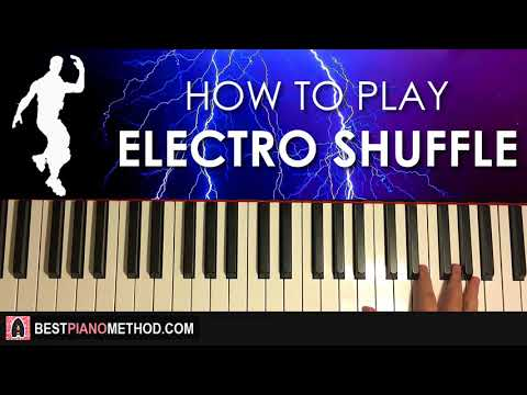 HOW TO PLAY - FORTNITE - Electro Shuffle (Piano Tutorial Lesson)