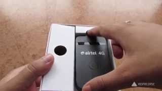 Airtel 4g WIFI router unboxing, Airtel 4g vs 3g review