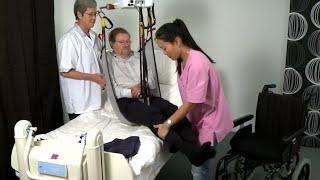 Raylı Sistem Hasta Taşıma (Kaldırma) Lifti HumanCare Yataktan Sandalyeye Transfer