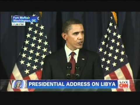 President Obama Libya Speech Fort McNair Washington D.C. (March 28, 2011) [1/2]