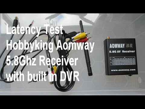 Latency test Hobbyking Aomway DVR 5.8GHz 32ch Video Receiver with internal DVR