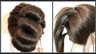 Простой способ прически на короткие волосы для себя.Easy hairstyle for short hair for yourself