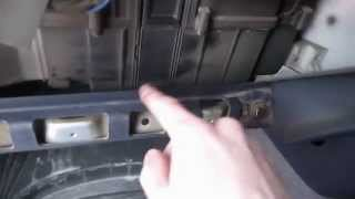 Внешняя чистка радиатора печки Honda S-MX