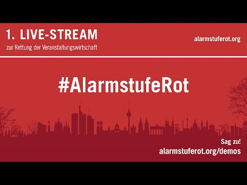 #alarmstuferot 1. Sendung für die Großdemonstration am 09.09.2020 in Berlin