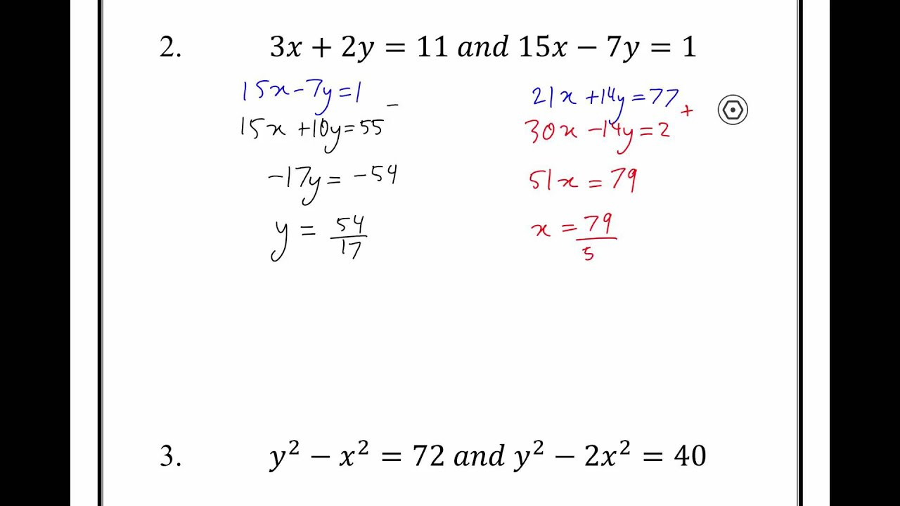 how to work on similtaneous equations with powers algebra
