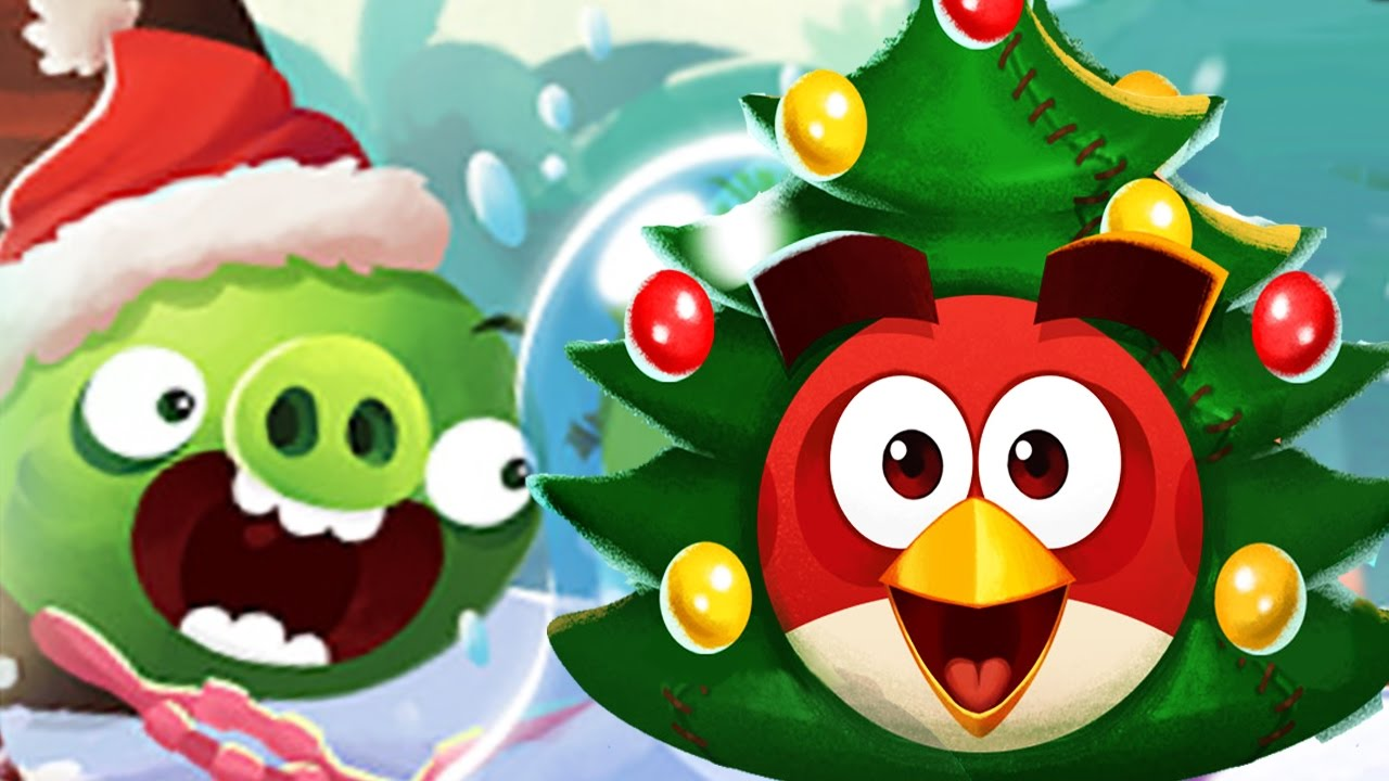 Angry Birds POP Bubble Shooter - Christmas Tree Red Birds! - YouTube