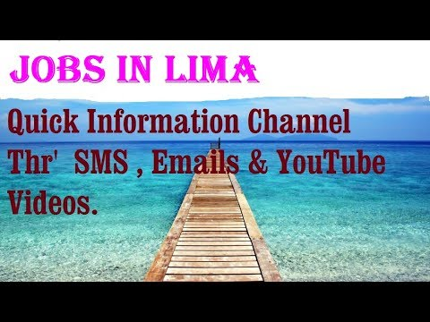 Jobs in LIMA    City for freshers & graduates. industries, companies.   PERU