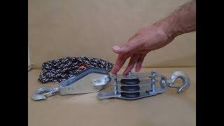 Multiplicador de Força - Sistema de Roldanas - Talha Exponencial - Power Multiplier - Pulley System