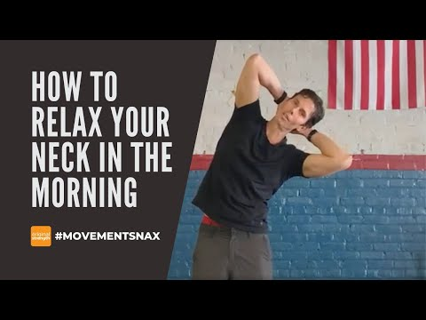 How to relax the neck in the morning