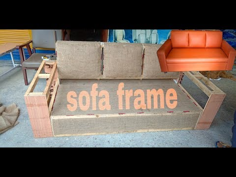 How to make a simple sofa frame at home