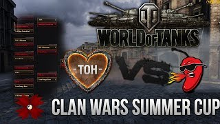 World of Tanks [HD+] - Clan Wars Summer Cup - RED_S vs TeamOrangeHeart [Best of three|Deutsch]