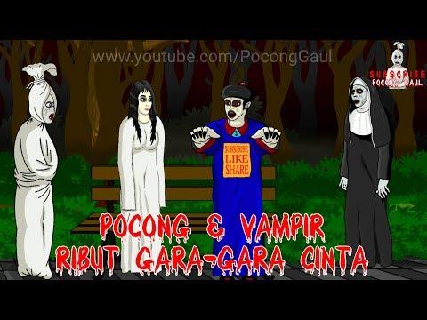 Pocong & Vampir Ribut Karena Cinta Kunti Kartun Hantu Lucu Pocong Gaul