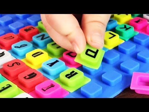 ABC THE ALPHABET with cute squishy alphabet WAFF BIG playmat. Let's play kids.