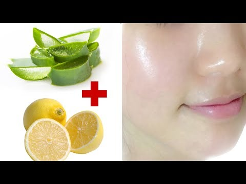 How to get clear, glowing, spotless skin by using aloe Vera and lemon