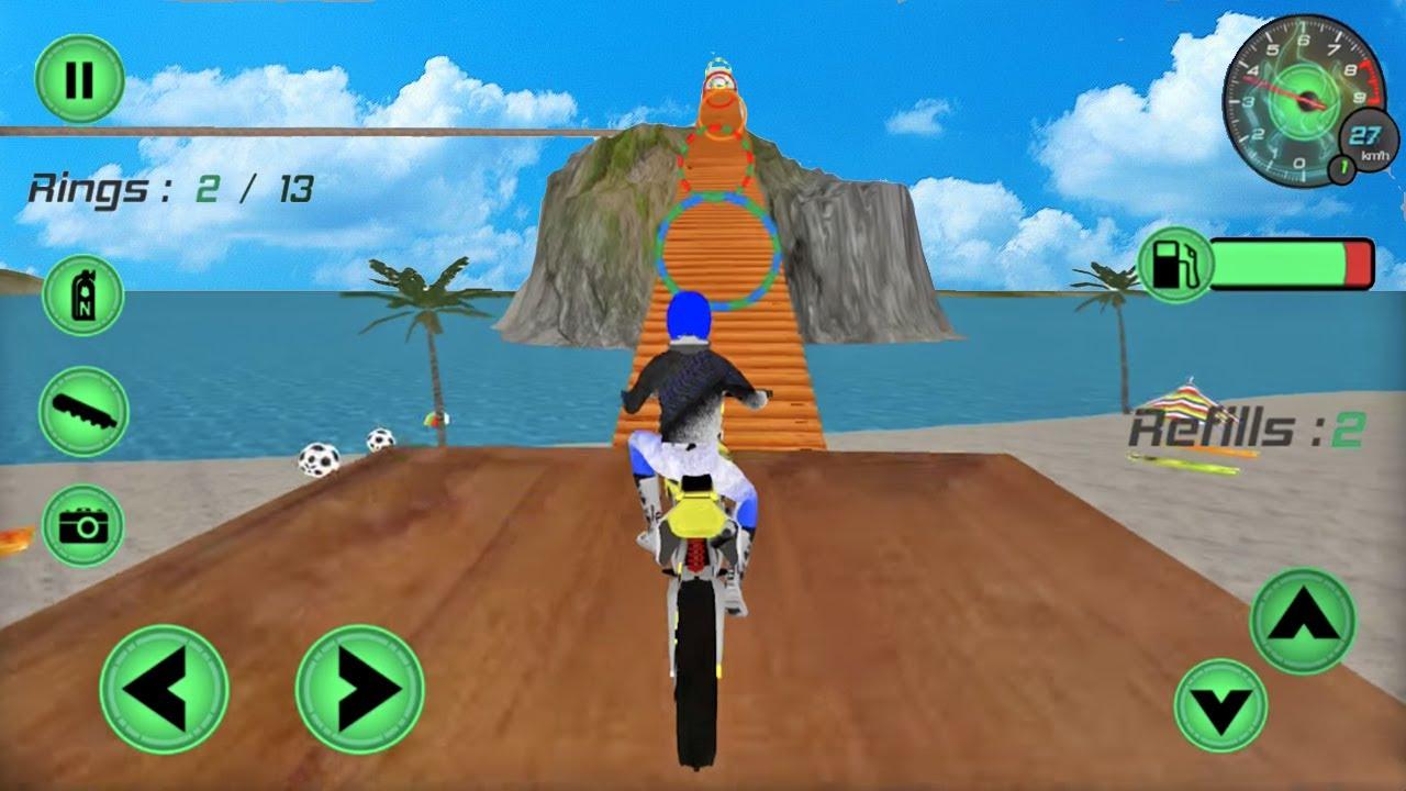 Juegos De Motos Motocross En La Playa Videos De Motos Youtube
