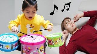 잠 좀 자자 너무 시끄러워!! 서은이의 핑크퐁 아기상어 드럼 악기 기타 피아노 음악 Pinkfong Baby Shark Drum Toys