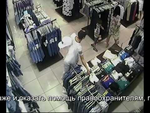 Сотрудники полиции Новотроицка разыскивают подозреваемого в краже одежды из магазина