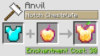 Minecraft UHC but you can anvil with ANY ITEM in the game...