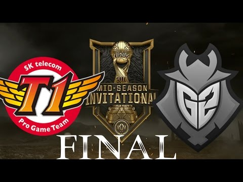 SKT vs. FW   2017 Mid-Season Invitational - Semifinals Day 1: SK telecom T1 vs. Flash Wolves