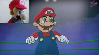 Mario react mario vs sonic cartoon beatbox battles!
