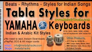 Barsaat ke mausam mein -Tabla Styles Yamaha PSR S910 S710 S550 S650 S950 A2000 Indian Kit Mix Set C