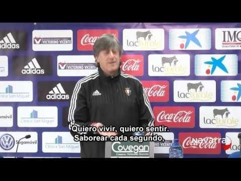 Canción que utiliza Martín Monreal para animar a  Osasuna,  4 marzo 2016