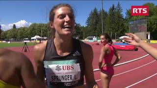 Schweizer Meisterschaften 2016, 200m Final Frauen Lea Sprunger Ellen Sprunger