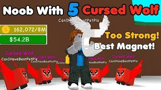 Noob With 5 Cursed Wolf! Broke The Game! Too Powerful! - Magnet Simulator