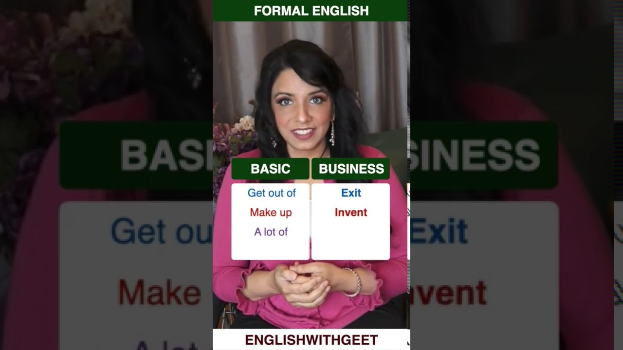 Formal and Informal English   From Basic English to Business English   English With Geet   #Shorts