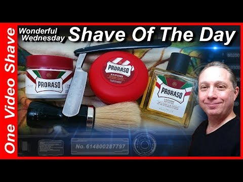 Wonderful Wednesday Shave Of The Day #OVS, Magnetic Silver Steel Straight Razor Shave, Proraso #SOTD