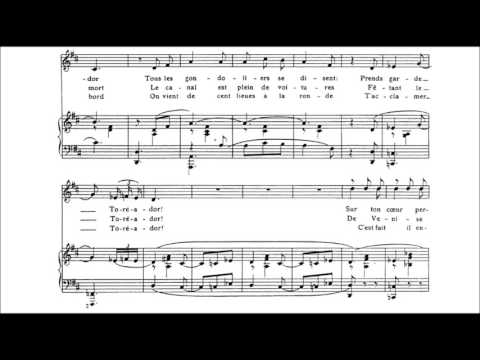 """Francis Poulenc - """"Toreador"""" for voice and piano (audio + sheet music)"""