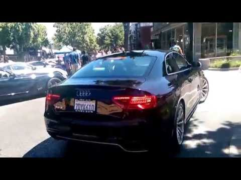 """2015 Audi RS5 at """"Cars and Croissants"""" in Menlo Park"""
